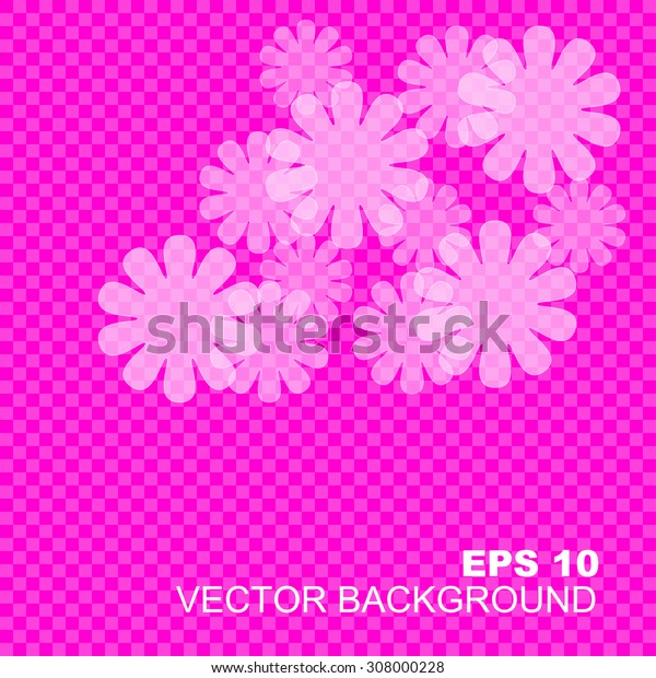 Colorful floral blank background