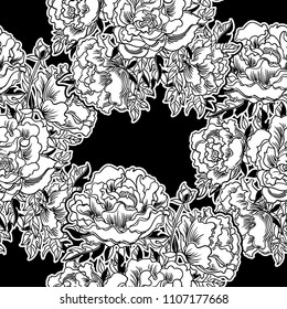 Colorful floral seamless vector pattern.