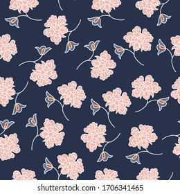 Colorful floral seamless vector pattern