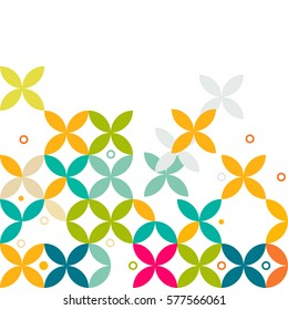 colorful flower pattern and graphic decoration, contemporary graphic pattern, vector illustration