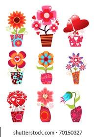 Pot De Fleur Stock Vectors Images Vector Art Shutterstock