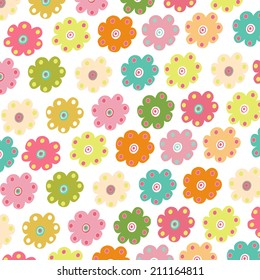 Colorful flowera vector background