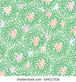 Colorful Flowers - abstract background pattern - vector eps10
