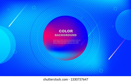 Colorful fluid background. Futuristic gradient shape composition