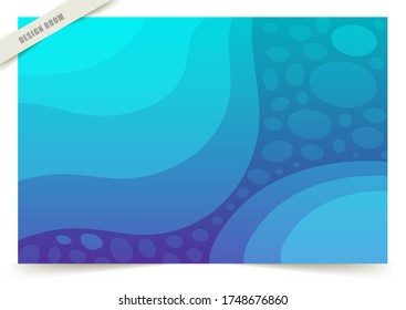 Colorful Fluid Cool Background. Blue And Light blue Color Mix New Texture - Shutterstock ID 1748676860