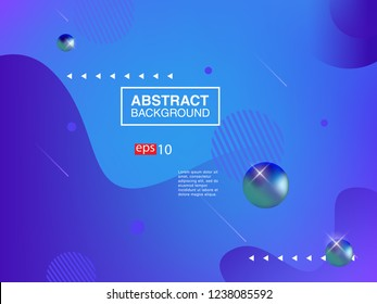 Colorful fluid geometric background. Liquid, flow, fluid background. Fluid 3d shapes composition. Modern abstract cover. Eps 10 vector