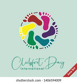 Colorful foot Vector Design for Clubfoot Day on June 3rd