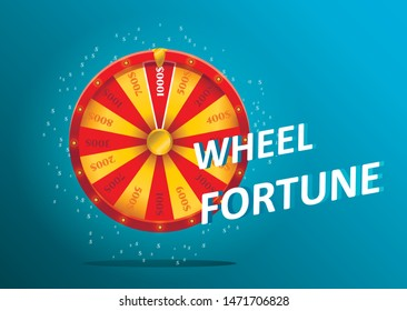 Colorful fortune wheel. Vector illustration EPS 10.