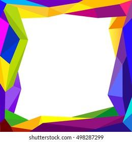 Colorful frame blank background Design Concept