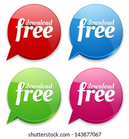 Colorful free download speech bubbles