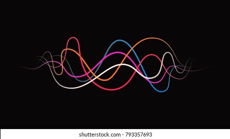 colorful frequency sound wave