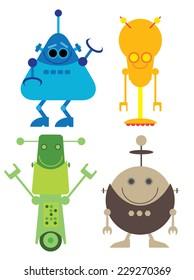 Colorful Fun Robots