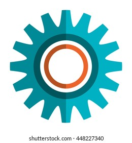 Colorful gear, cof or wheel isolated icon, Industry and machinary concept.