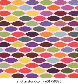 Colorful geometric abstract pattern with variety of shapes and colors.  Multicolor vector seamless background with aztec, ethnic and tribal motifs