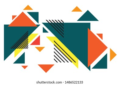 Colorful geometric background.  Abstract geometric triangles background.