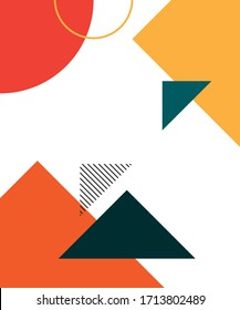 Colorful geometric background. Abstract geometric triangles background. Simple geometric background. Template for poster, backdrop, book cover, brochure, and vector illustration. Eps10 vector