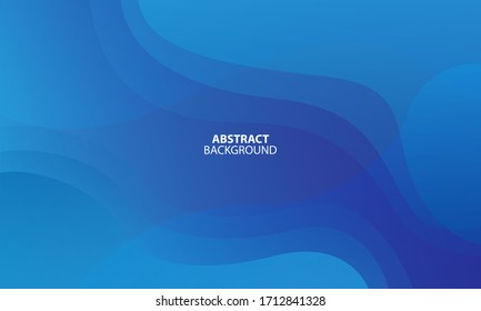 Colorful geometric background. Blue elements with fluid gradient. Dynamic shapes composition. Eps10 vector