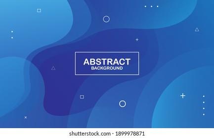 Colorful geometric background. Blue elements with fluid gradient. Fluid shapes composition. Eps10 vector