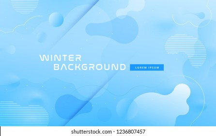 Colorful geometric background design. Blue fluid shapes composition with trendy gradients. Eps10 vector.