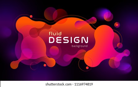 Colorful geometric background design. Fluid shapes composition with trendy flow gradients. Eps10 vector.
