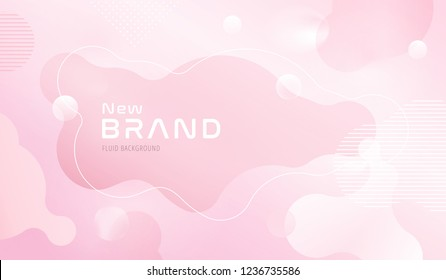 Colorful geometric background design. Fluid shapes composition with trendy gradients. Eps10 vector.