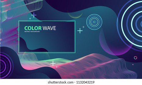 Colorful geometric background design. Wave composition. Vector.