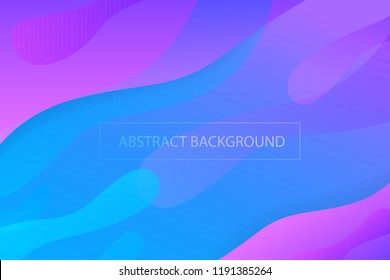 Colorful geometric background. Fluid shapes composition. Creative design with color of curves in EPS10 vector.
