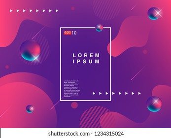 Colorful geometric background. Fluid shapes composition. Eps 10 vector