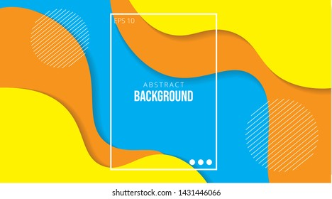 Colorful geometric background. Fluid shapes composition. Eps10 vector. - Vector - Orange