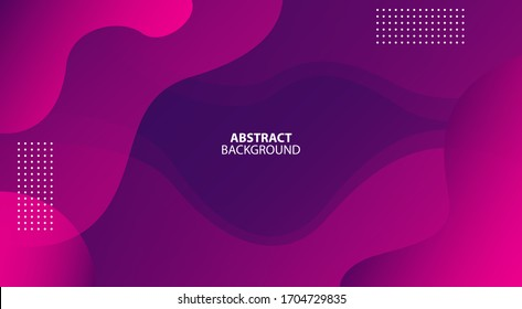 Colorful geometric background. Fluid shapes composition. Dynamic shapes composition. Trendy gradient shapes composition. Minimal geometric background. Vector illustration