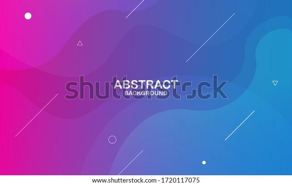 Colorful geometric background. Liquid color background design. Fluid shapes composition. Eps10 vector.