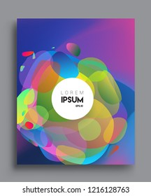 Colorful geometric background, modern abstract pattern. Vector templates for cover, template, decorated, brochure, flyer.