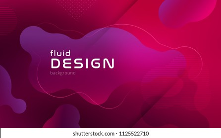 Colorful geometric background pattern. Fluid shapes composition with trendy gradients. Eps10 vector.