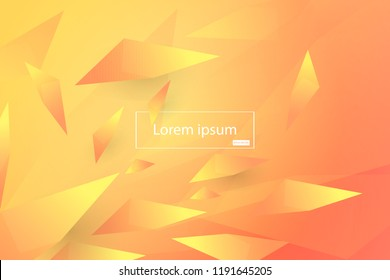 Colorful geometric background. Polygon shapes composition. Creative design with color of curves in EPS10 vector.