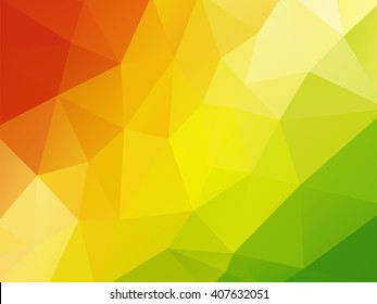 colorful geometric background red yellow green
