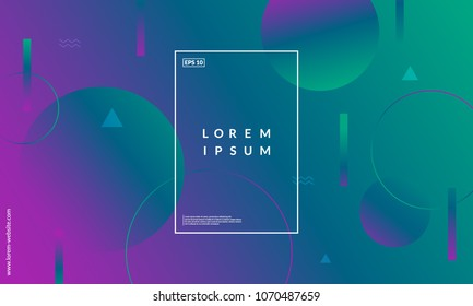 Colorful geometric background. Simple shapes composition. Eps10 vector.