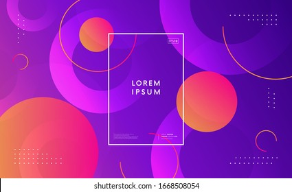 Colorful geometric background vector design. Abstract composition with shapes. Futuristic backdrop.