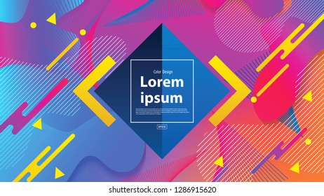 Colorful geometric background.Gradient shapes composition.Fluid shapes composition. Eps10 vector.