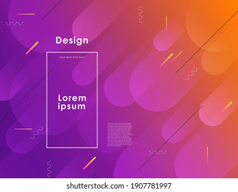 Colorful geometric backgrounds. Dynamic composition. Gradient colors. Best for posters, landing page. Vector illustration.