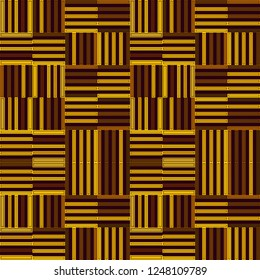 colorful geometric brown repeating pattern of horizontal and vertical stripes arranged in blocks. for textile, fabric, backgrounds, wallpapers and modern surface designs. swatch at eps. file