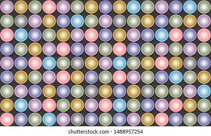 Colorful geometric circle shape  background, vector illustration.
