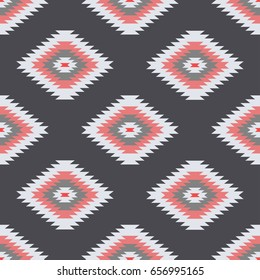 Colorful Geometric Oriental Inspired Pattern - Vector Abstract Background eps10