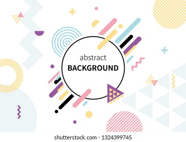 colorful geometric pattern on white background.
