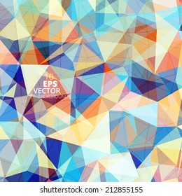 Colorful geometric pattern. Triangles background. Polygonal design.