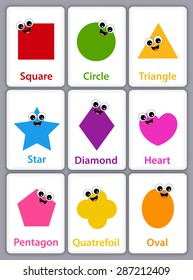 Shapes Names for Kids Stock Illustrations, Images & Vectors