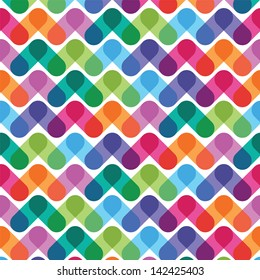 colorful geometrical abstract seamless pattern