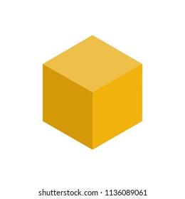 Colorful geometrical figure Vector illustration: Cube