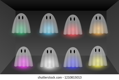 colorful ghost in the room