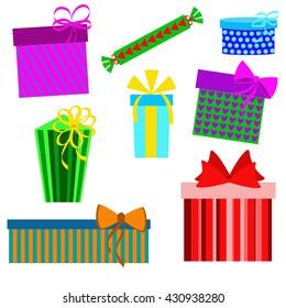 White Art Line Gift Box Stock Vector Royalty Free 770740693