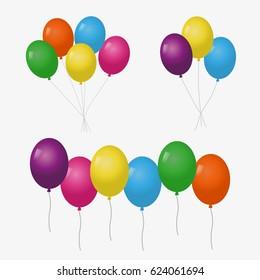 Colorful glossy balloons.Balloons set